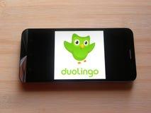 Duolingo app royalty-vrije stock foto's
