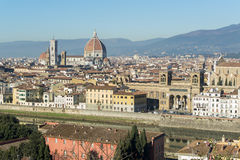 Duomo - θόλος καθεδρικών ναών Brunelleschi ` s στη Φλωρεντία Στοκ Εικόνες