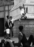 Duomo Μιλάνο Breakdance στις οδούς Στοκ Φωτογραφίες