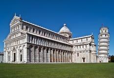 duomo Италия учя башню Тоскану pisa Стоковые Фотографии RF