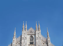 Duomo неба милана голубого Стоковое Изображение