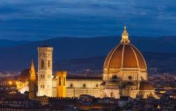 Duomo Флоренса изумительн del базилики детализировало наземный ориентир maria florence fiore di экстерьера известный большинств н стоковое фото rf