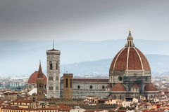 Duomo. Il Duomo in Florence Italy is possibly the most recognizable cathedral in the western world and has been touched by the hands of Michelangelo himself Stock Photo
