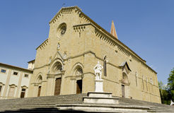 Duomo of Arezzo - Italy. The main cathedral in the city of Arezzo in Tuscany, Italy Royalty Free Stock Photography