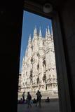 Duomo av Milano Arkivbilder