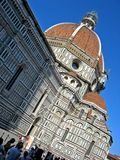 Duomo and Baptistry. At Florence Italy stock photography