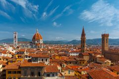 Duomo and Bargello in Florence, Italy Royalty Free Stock Photography
