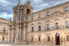 Duomo baroque, Syracuse, Sicile, Italie Photos libres de droits