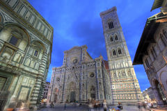 Duomo bij nacht, Florence, Italië Royalty-vrije Stock Foto