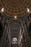 Duomo binnenlands-siena Stock Foto