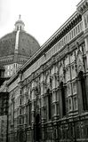 Duomo in black. Il Duomo church in Florence, Italy Royalty Free Stock Image