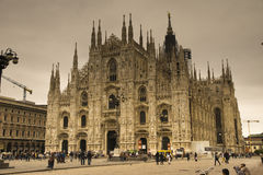 The Duomo Cathdral Milano Italy Stock Photo