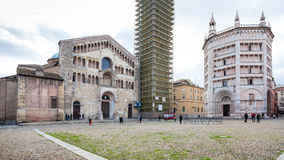 Duomo Cathedral and Baptistery on Piazza del Duomo Royalty Free Stock Photography
