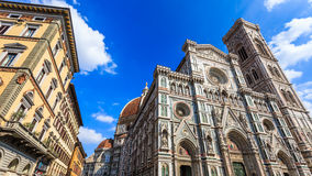 Duomo cathedral and bell tower in Florence, Italy. Stock Photos