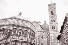 Duomo Cathedral Church and Baptistry, Florence Royalty Free Stock Photos
