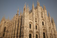 Duomo Cathedral Church in Milan Stock Photography