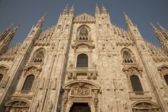 Duomo Cathedral Church in Milan, Italy Stock Photography