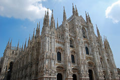 Duomo Cathedral exterior, Milan Royalty Free Stock Photo