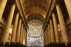 Duomo Cathedral in Forli, Italy. Interior of the Duomo Cathedral in Forli, Italy Stock Photo