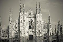 Duomo cathedral of Milan - detail Stock Images