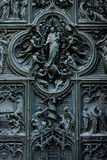 Duomo cathedral of Milan - entrance door Royalty Free Stock Image