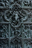 Duomo cathedral of Milan - entrance door Stock Photography