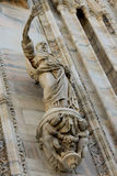 Duomo cathedral of Milan facade detail Stock Photo