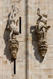 Duomo cathedral of Milan facade detail Stock Images