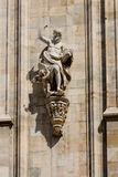Duomo cathedral of Milan facade detail Stock Image