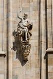 Duomo cathedral of Milan facade detail Stock Image