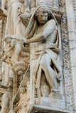 Duomo cathedral of Milan facade detail Royalty Free Stock Photo
