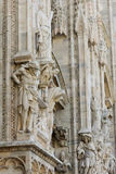 Duomo cathedral of Milan facade detail Royalty Free Stock Images