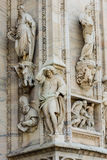Duomo cathedral of Milan facade detail Royalty Free Stock Photos