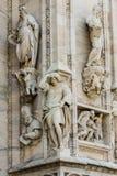 Duomo cathedral of Milan facade detail Royalty Free Stock Photos