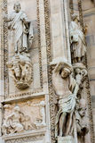 Duomo cathedral of Milan facade detail Royalty Free Stock Photo