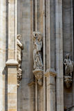 Duomo cathedral of Milan facade detail Stock Images