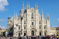 Duomo cathedral in Milan Stock Image