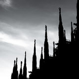 Duomo Cathedral of Milan Italy Royalty Free Stock Images