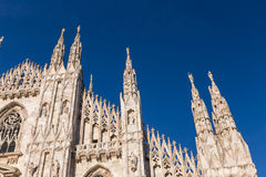 Duomo Cathedral of Milan Italy Stock Photography