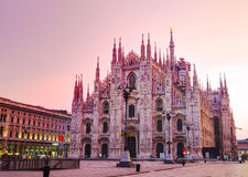 Duomo cathedral in Milan, Italy royalty free stock photos