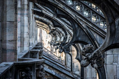 Duomo cathedral of Milan Stock Photo