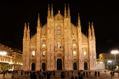 Duomo  Cathedral in  Milano, Italy Stock Photos