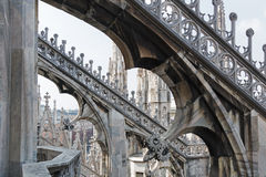 Duomo, the cathedral in Milano, Italy Royalty Free Stock Photography