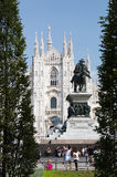 Duomo, the cathedral in Milano, Italy Stock Photos