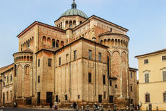 Duomo cathedral in Parma, Italy. Stock Images