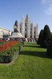 Duomo - Cathedral square of Milan Stock Image