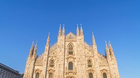 Duomo cathedral in sunset light. Milan, Italy. stock photos