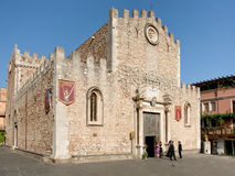 The Duomo (Cathedral) in Taormina, Sicily Royalty Free Stock Image