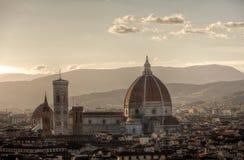 Duomo Cathedrale di Basilika di Santa Maria del Fiore, Florence, Firenze, Toscany, Italien Arkivfoto