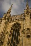 Duomo church in milan. Church duomo in piazza duomo in milan detail Stock Photography